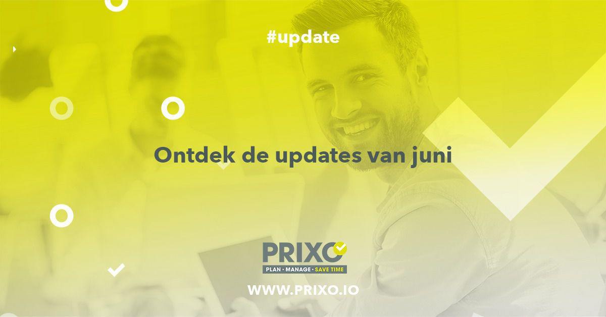 Updates van Prixo in juni 2019