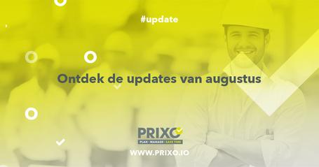 Updates bij Prixo in augustus 2019