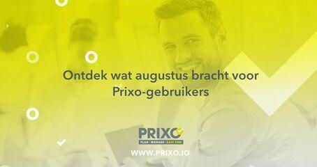 Augustus 2020 update - Prixo