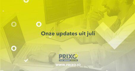 juli 2021 update bij Prixo