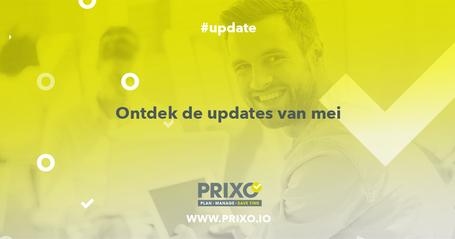 de updates van mei 2019 bij Prixo