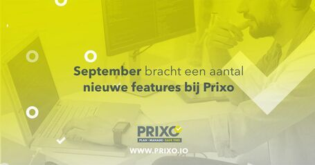 Prixo update september 2020