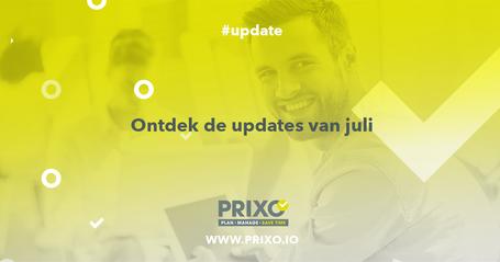 Lees de Prixp updates van juli 2019