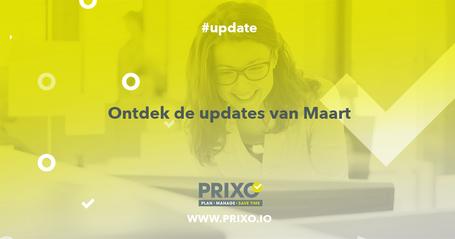 Updates bij Prixo maart 2019